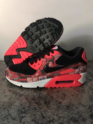 "Nike Air Max 90 Print Shoes Size 6 Black Crimson ""We Love Nike"" AQ0926 001 for Sale in Bristol, PA"