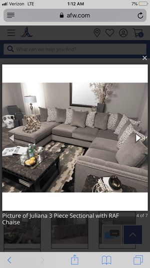 Large grey sectional sofa/ couch (FIRM ON PRICE) for Sale in Spring Valley, CA