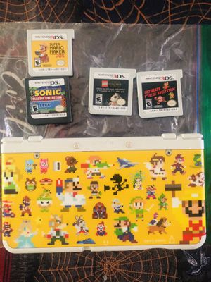 Mario Edition Nintendo 3DS with 4 games and charger for Sale in Portland, OR