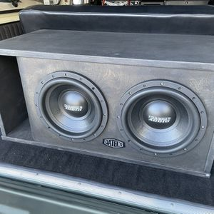 """Dual 12"""" Sundown Audio Subs In Gately Ported Box for Sale in Oceanside, CA"""