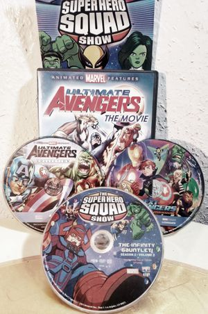 Avengers & super hero squad 3 dvds for Sale in Oklahoma City, OK