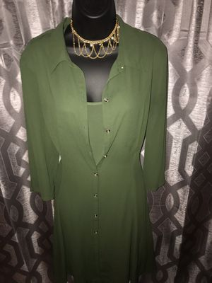 Shear olive dress for Sale in East Point, GA