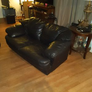 Two Seat Leather Sofa for Sale in Long Beach, CA
