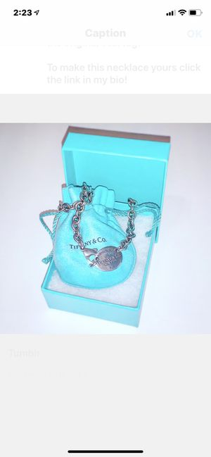 Tiffany & Co. Oval Tag Necklace for Sale in Scottsdale, AZ