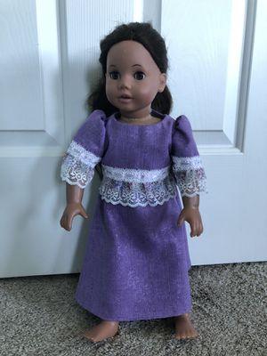 "New handmade homemade full length purple modest 18"" doll dress for Sale in Halifax, PA"