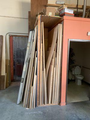 Hardwood, redwood, cabinet grade plywood, etc. Woodworking shop materials sale/liquidation. for Sale in Redwood City, CA