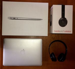 Apple MacBook Air with protective case and Beat Solo3 wireless headphones for Sale in Manheim, PA