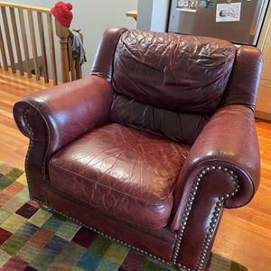 Super Comfy Real Leather Armchair for Sale in Boston, MA