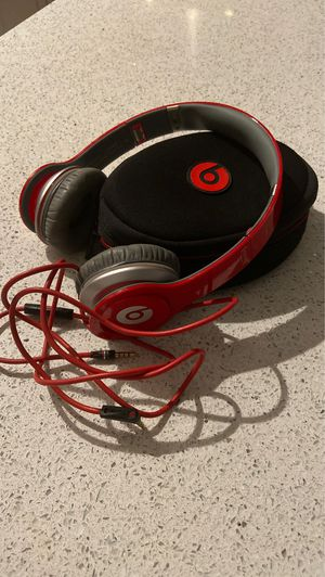 Beats by Dre Solo HD head phones special edition red for Sale in Orlando, FL