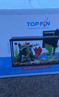 Top Fin 5.5 Gallon Fish Tank for Sale in Irving,  TX
