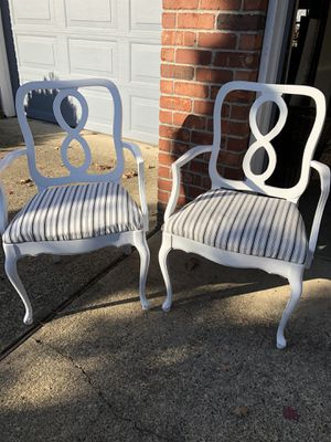 Matching white chairs for Sale in Vancouver, WA