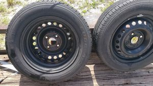 """15"""" rims and tire for honda 4 lug for Sale in Naples, FL"""