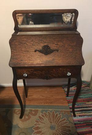 Antique desk drop front 28x15x47 for Sale in Vienna, VA