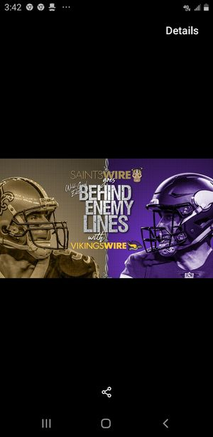 Playoffs tix Saints VS Vikings for Sale in Baton Rouge, LA