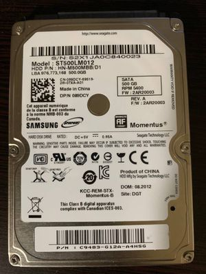 500 GB Samsung 2.5 Inch Hard Drive for Sale in Salt Lake City, UT
