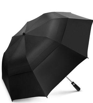 Portable Golf Umbrella Large Windproof Double Canopy - Automatic Open Strong Oversized Rain Umbrellas for Sale in Fairfax, VA