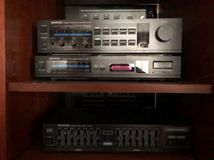 Kenwood Stereo, integrates amplifier, receiver, equalizer, speakers for Sale in North Wales, PA