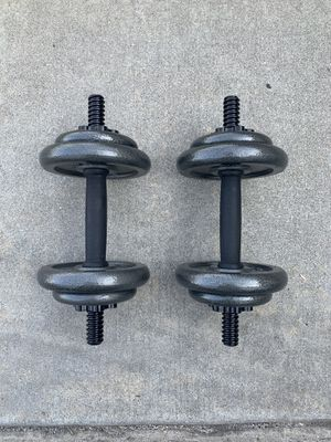 CAP Barbell 40 lb. Adjustable Cast Iron Dumbbell Set for Sale in West Covina, CA