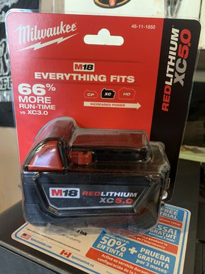 Milwaukee 5.0 battery for Sale in Pleasant Hill, CA