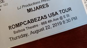 Tickets MIJARES ROMPCABEZAS USA TOUR for Sale in Lincoln Acres, CA