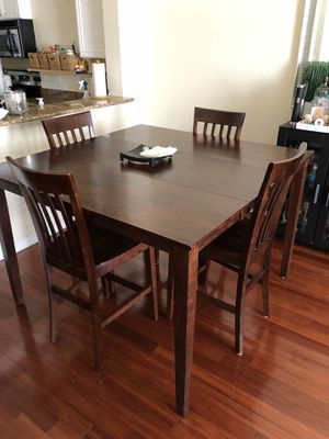 Wood dining room table - counter height for Sale in Tampa, FL