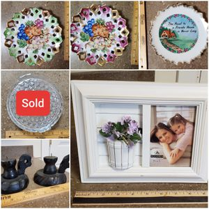 Decorative Plates, Picture Frame, Candle Holder, Candy Dish for Sale in Downers Grove, IL