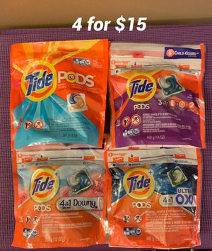 4 packs of Tide Pods for Sale in Silver Spring, MD