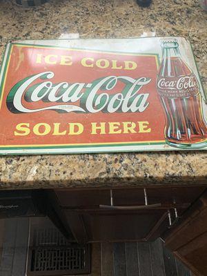 Old coke sign $30 for Sale in Oak Lawn, IL