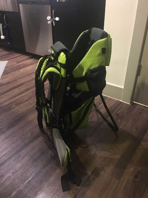 Green baby backpack hiking carrier for Sale in Austin, TX