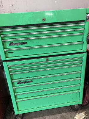 Snap on top and bottom tool boxes and us general tool cart for Sale in Brockton, MA