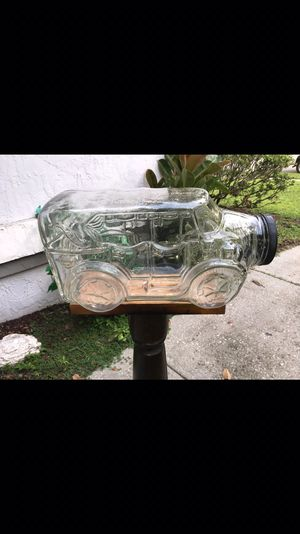 Rare vintage 1987 Libby 5 gallon glass car jar Large candy jar/cookie jar measurements20 inches in length 10 inches in width 11 inches in height $60 for Sale in Orlando, FL