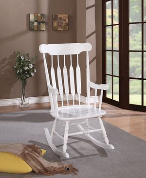 Windsor Back Rocking Chair! White! New! for Sale in West Sacramento, CA