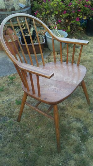 Windsor chair....in beautiful old wood for Sale in San Francisco, CA