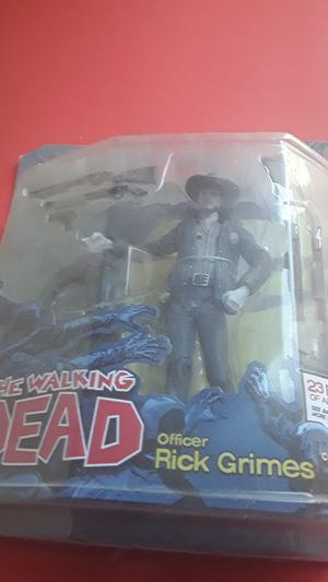 Black and white comic series 1 Rick Gimes action figure for Sale in Lewisville, TX