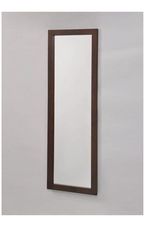 Espresso Finish Wooden Wall Mount Mirror or Over the Door for Sale in Playa del Rey, CA