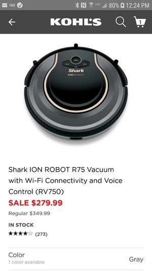 Shark Ion Robot R75 Vacuum for Sale in Aurora, IL
