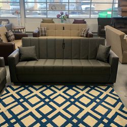 Multi Functional Living Room Set Sleeper Sofa And Love Seat Grey for Sale in Melrose Park,  IL