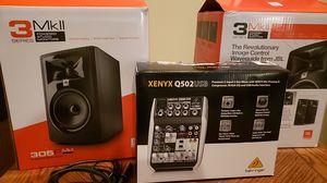 Studio Package!! JBL Speakers & Mixer for Sale in Fort Worth, TX