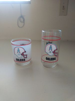 Houston Oilers glasses for Sale in Stafford, TX