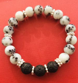 New Spotted Lava Stone Bracelet for Sale in Elk Grove Village, IL