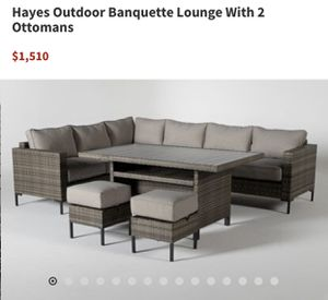 Hayes Outdoor Banquette Lounge Set for Sale in Costa Mesa, CA