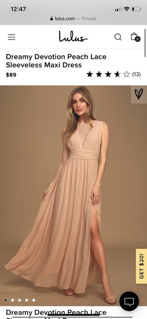 Lulus Peach Sleeveless Maxi Dress for Sale in North Caldwell, NJ