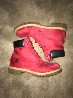 red timberland camo boots size 10 usa for Sale in Fort Worth, TX