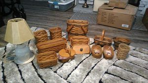 Longaberger collector's club baskets and lamps for Sale in Mt. Juliet, TN