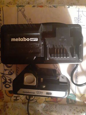 (Brand new)METABO HPT 18V LI-ION BATTERY AND CHARGER for Sale in Indianapolis, IN