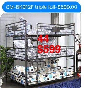 Bunk beds. Trundle not included.Mattresses not included, but available. Assembly required. Free delivery. for Sale in Whittier, CA
