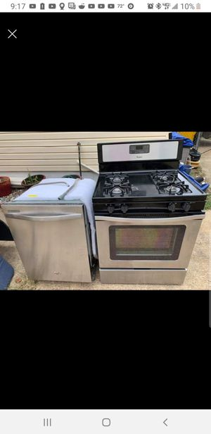 Stainless Gas stove, Dishwasher, Microwave and range fan for Sale in MD CITY, MD
