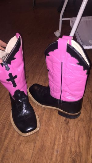 Real leather cowgirl boots for Sale in Houston, TX