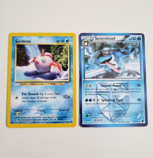 Pokemon Card SEISMITOAD 26/116 + GOLDEEN 45/64 for Sale in Adelphi, MD