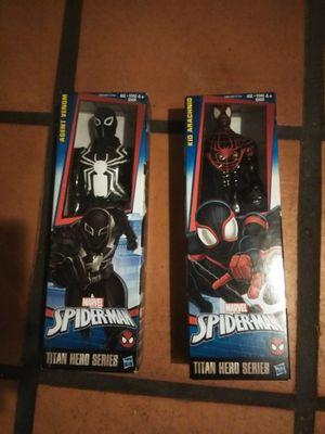 Lot of 2 action figures Spiderman and agent venom for Sale in Tampa, FL